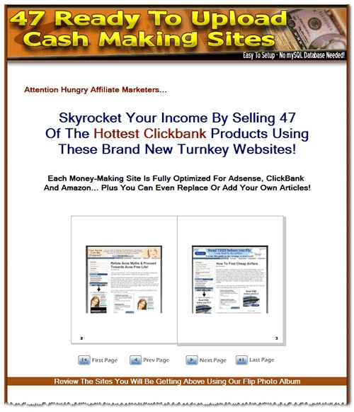 Product picture 47 Clickbank Turnkey Websites